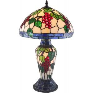 Grape Table Lamp Shade & Base 43cm + Free Bulbs