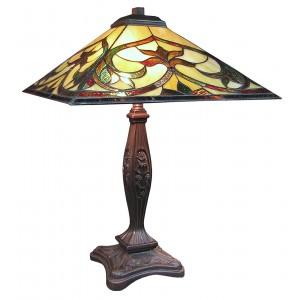 Nouveau Design Tiffany Style Table Lamp + Free Bulb