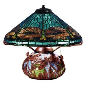 Dragonfly Tiffany Shade & Bronze  Base Lamp + Free Bulb