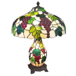 Grape Tiffany Umbrella Lamp + Free Bulbs