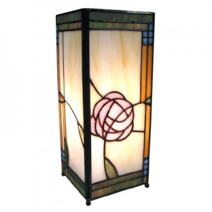 Macintosh Square Tiffany Table Lamp + Free Bulb 27cm