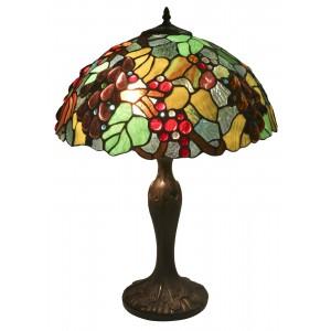 Embossed Grape Tiffany Lamp Free Bulbs - 56cm