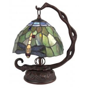 Dragonfly Tiffany Lamp Embossed Base + Free Bulb