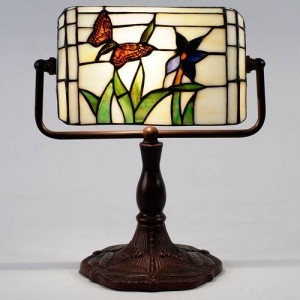 Butterfly Bankers Tiffany Lamp + Free Bulb