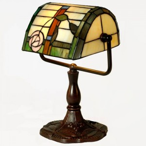 Mackintosh Tiffany Style Bankers Lamp Free Bulb