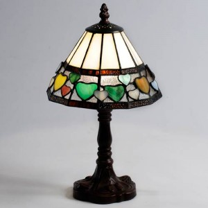 Hearts Design Table Lamp (Small) Free Bulb