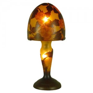 Galle Style Art Nouveau Mushroom Flower Lamp + Free Bulbs