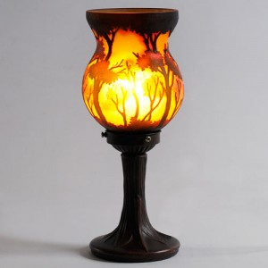Galle Style Art Nouveau Table Lamp Tree Design Free Bulb