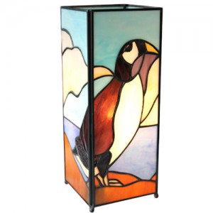 Puffin/Penguin Square Tiffany Lamp + Free Bulb