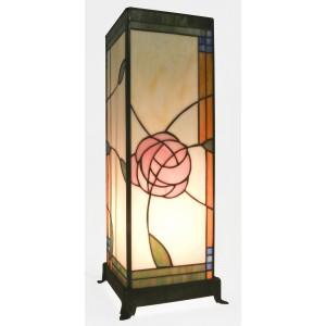 Mackintosh Design Square Tiffany Lamp Free Bulb 45cm