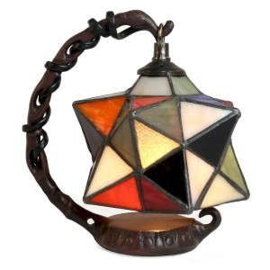 Hanging Star Tiffany Style Table Lamp + Free Bulb