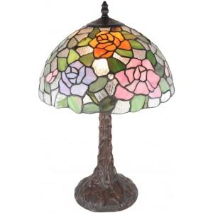 Rose Tiffany Table Lamp 46cm + Free Bulbs