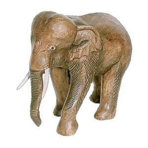 Acacia Wood Elephant - 28cm
