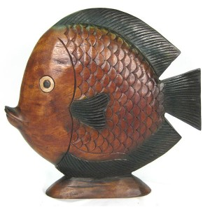 Acacia Wood Fish - 51cm