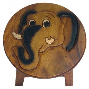 Elephant Head Plant Stand Stool