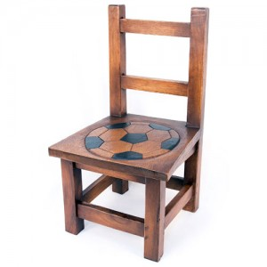 Acacia Wood Childs Football Design Chair