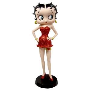 Betty Boop Garter (Red Glitter Dress) 32cm