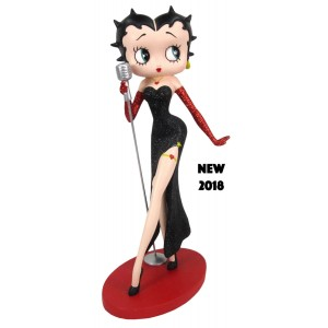 Betty Boop Classic Singer (Black Glitter Dress / Red Glitter Gloves)