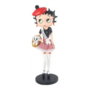 Betty Boop In French Costume  31cm ** With Fabric Checked Skirt **