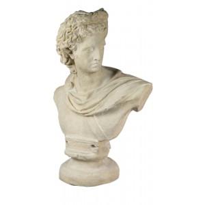 Apollo Bust - Roman Stone Finish