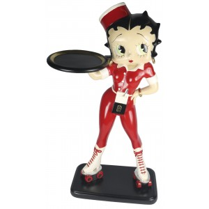 Large Betty Boop Rollerskate Waitress With Tray - 3ft