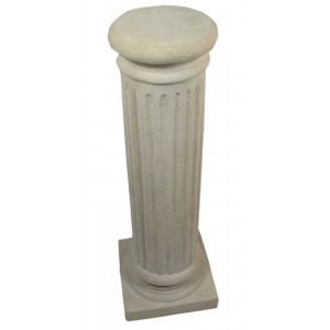 Fluted Round Pedestal - Roman Stone Finish