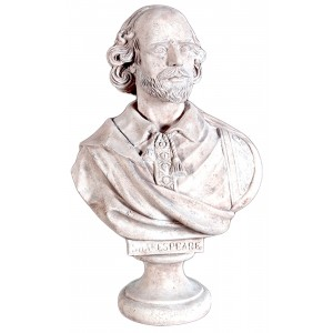 William Shakespeare Bust - Roman Stone Finish