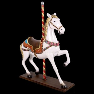 Life Size Resin Carousel Horse Statue