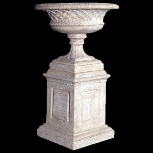 Eastwell Urn on Base - Roman Stone Finish