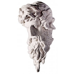 Hercules Head Wall Hanging Roman Stone Finish