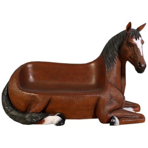 Horse 2 Seater Resin Bench