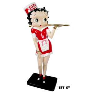 Large Betty Boop Diner Waitress with Tray - 5ft 5in