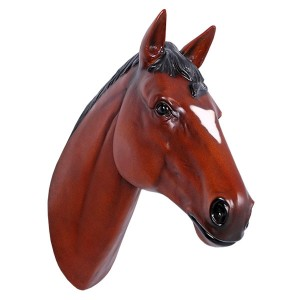 Horse Head Brown Resin Wall Hanging