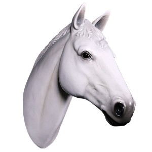 Horse Head White Resin Wall Hanging