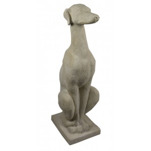Sitting Greyhound Roman Stone 89cm
