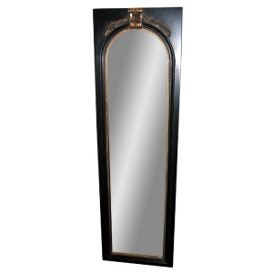 Wall Dressing Mirror Antique Black Gold Framed