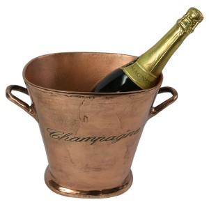 Aluminium Champagne Bucket Copper Industrial Finish 34cm