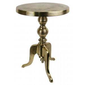 Aluminium Round Side Table Brass Industrial Finish 45cm