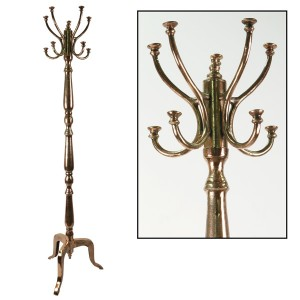 Aluminium Coat Stand Copper Industrial Finish 180cm