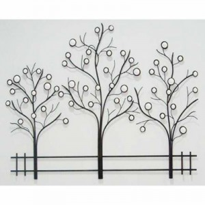 Trees on Fence Hanging Wall Art