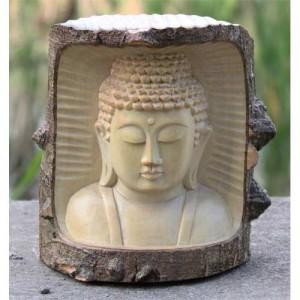Crocodile Wood Thai Buddha Trunk Carving - 15cm