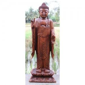 Suar Wood Thai Buddha Statue 107cm