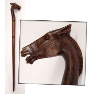 Sono Wood Horse Head Walking Stick