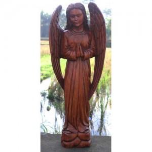 Suar Wood Angel Statue - 100cm