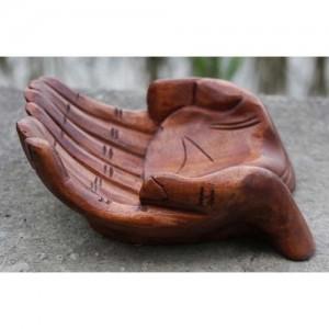 Suar Wood Hand Bowl 23cm