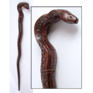 Sono Wood Snake/Serpent Walking Stick