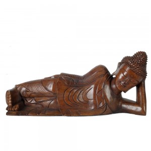 Suar Wood Thai Buddha Lying 50cm