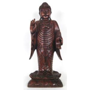 Suar Wood Standing Buddha - 61cm