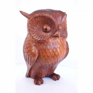 Suar Wood Owl 40cm