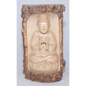 Crocodile Wood Thai Buddha Trunk Carving - 30cm